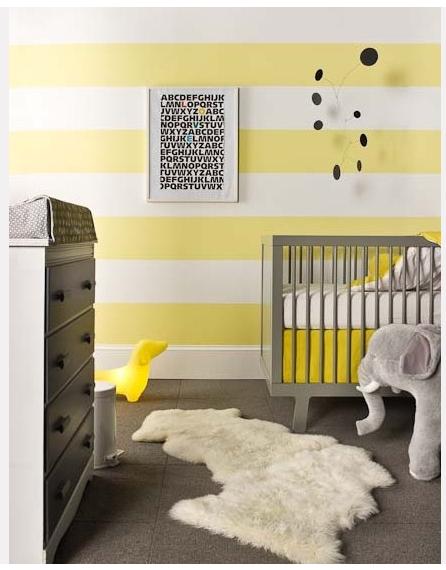 Style ambiance chambre b b jaune for Ambiance chambre bebe
