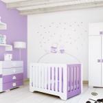ambiance chambre bébé violet