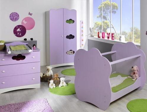 ambiance chambre b b violet. Black Bedroom Furniture Sets. Home Design Ideas