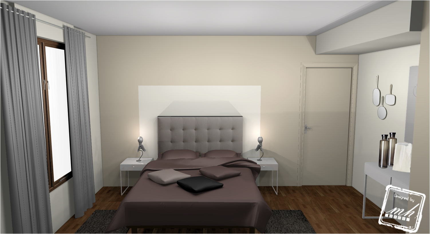 Modele Ambiance Chambre Taupe