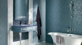 ambiance salle de bain bleu
