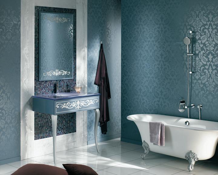 Ambiance salle de bain bleu for Salle de bain bleu