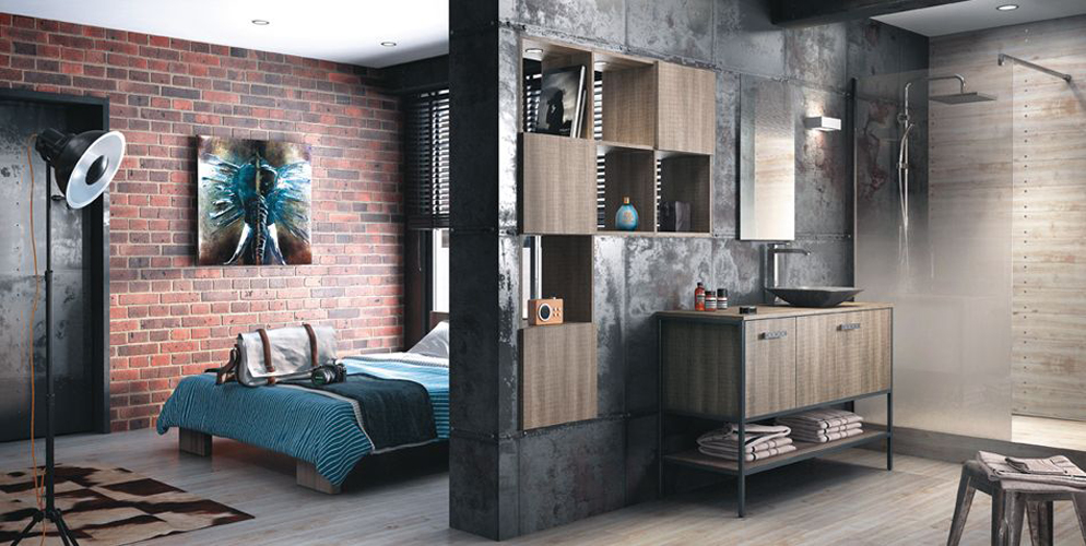 inspiration ambiance salle de bain industriel. Black Bedroom Furniture Sets. Home Design Ideas