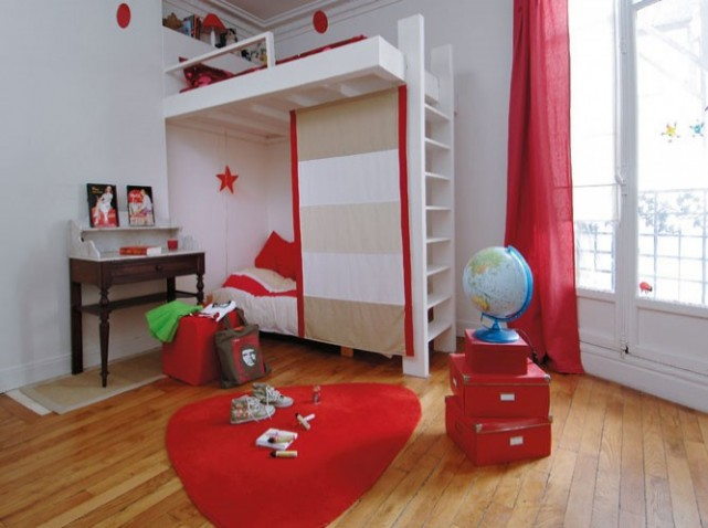 nouvelle d co chambre fille gris et rouge. Black Bedroom Furniture Sets. Home Design Ideas