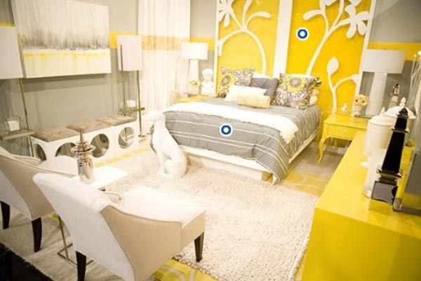 nouvelle d co chambre jaune. Black Bedroom Furniture Sets. Home Design Ideas