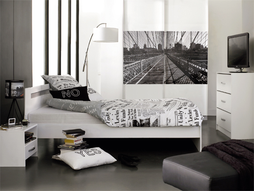 d co chambre new york. Black Bedroom Furniture Sets. Home Design Ideas