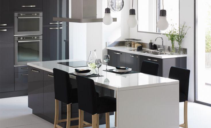 déco cuisine gris et blanc