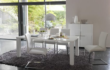 mod le d co salle manger gris et blanc. Black Bedroom Furniture Sets. Home Design Ideas