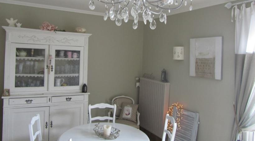 Photo d co salle manger gris et blanc - Salle a manger blanc et gris ...