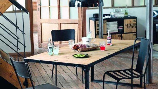 D co salle manger industriel - Deco salle a manger industrielle ...