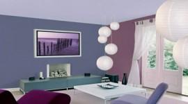 déco salon gris et violet