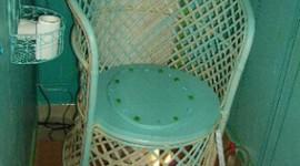 déco wc - toilettes turquoise