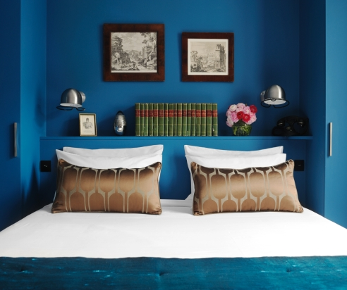 d coration chambre bleu. Black Bedroom Furniture Sets. Home Design Ideas