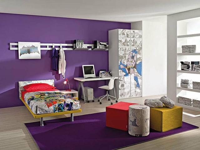 D coration chambre fille gris et violet for Deco chambre violet gris