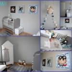 décoration chambre fille gris et violet