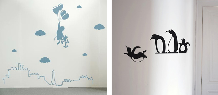Inspiration d coration chambre fille stickers for Stickers deco chambre