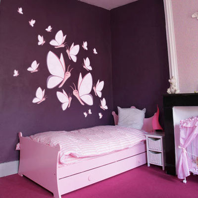 quelle d coration chambre fille stickers. Black Bedroom Furniture Sets. Home Design Ideas