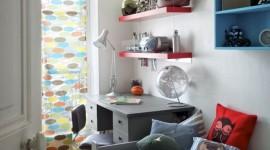 décoration chambre garçon rouge