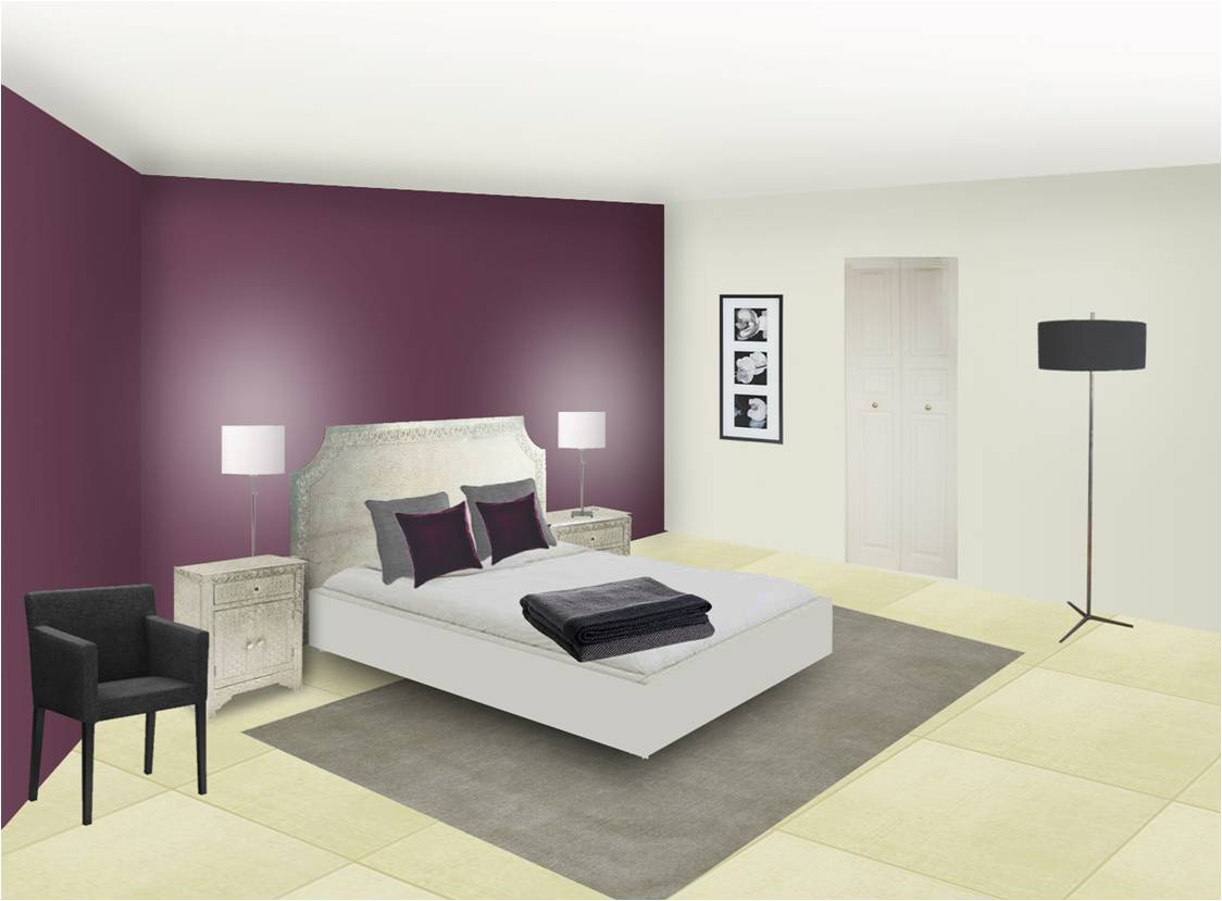 D coration chambre prune for Photos decoration chambre