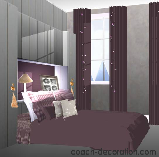 Quelle d coration chambre prune for Decoration maison chambre