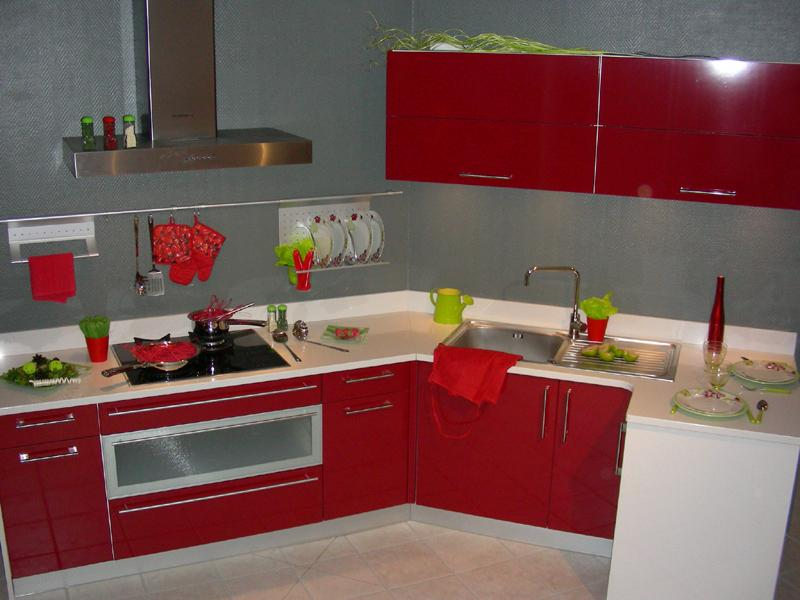 deco cuisine peinture rouge avec des id es int ressantes pour la conception de la. Black Bedroom Furniture Sets. Home Design Ideas