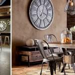 décoration salle à manger industriel