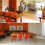 décoration salle à manger orange