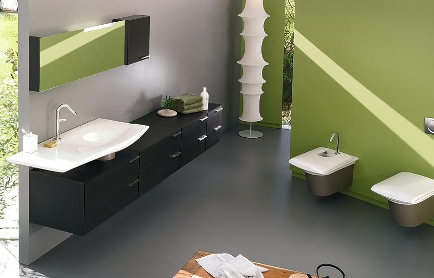 d coration salle de bain vert. Black Bedroom Furniture Sets. Home Design Ideas