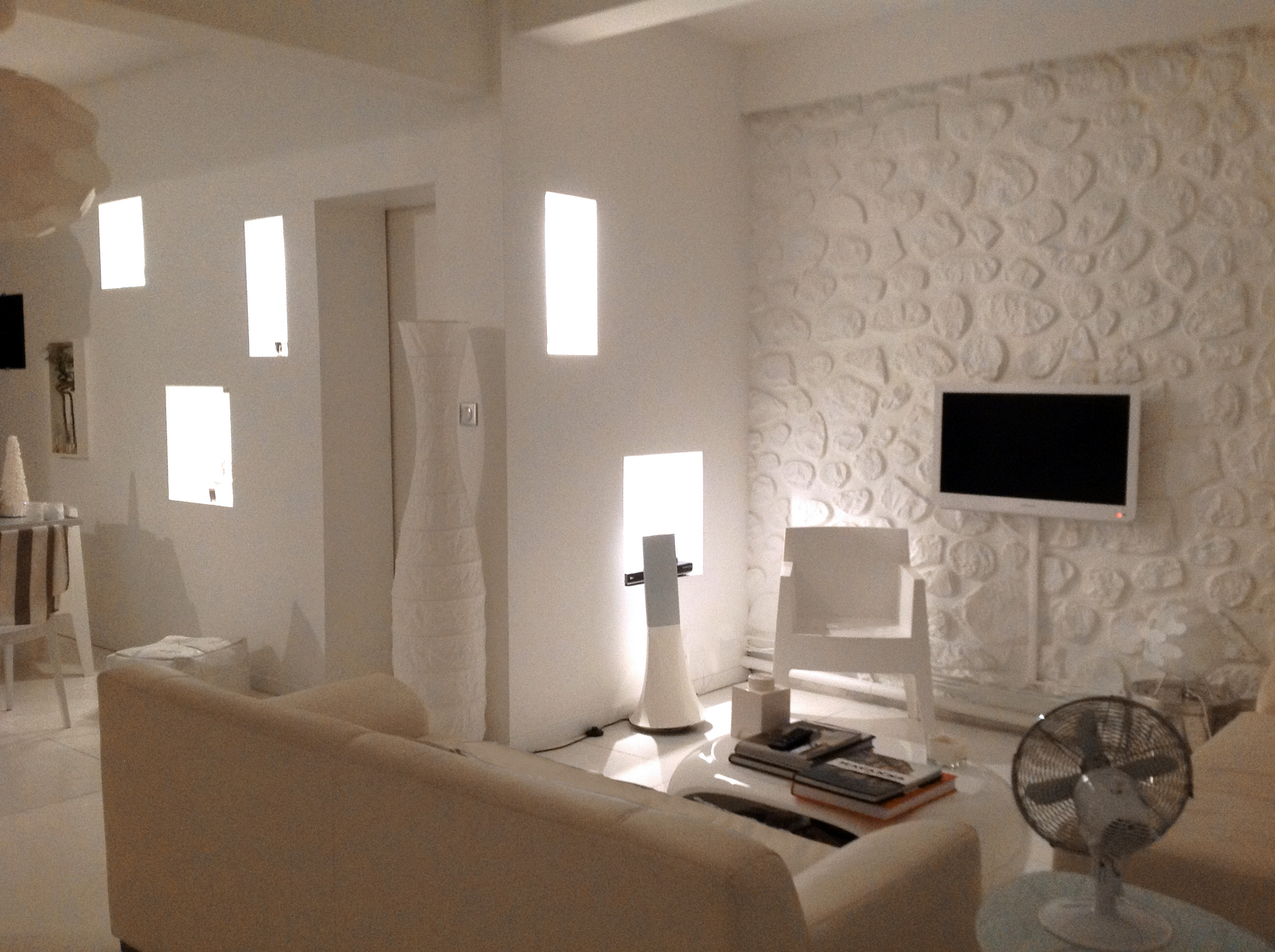 Mod le d coration salon blanc for Photo decoration maison
