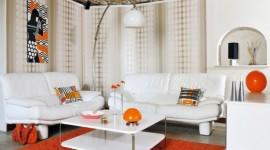 décoration salon orange