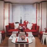 décoration salon rouge
