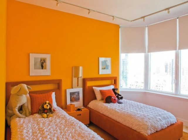 id e d co chambre fille orange. Black Bedroom Furniture Sets. Home Design Ideas