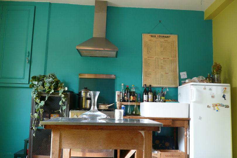 Id e d co cuisine bleu for Decoration maison bleu turquoise