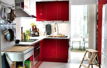 Conseil id e d co cuisine gris et rouge - Idee deco cuisine rouge ...
