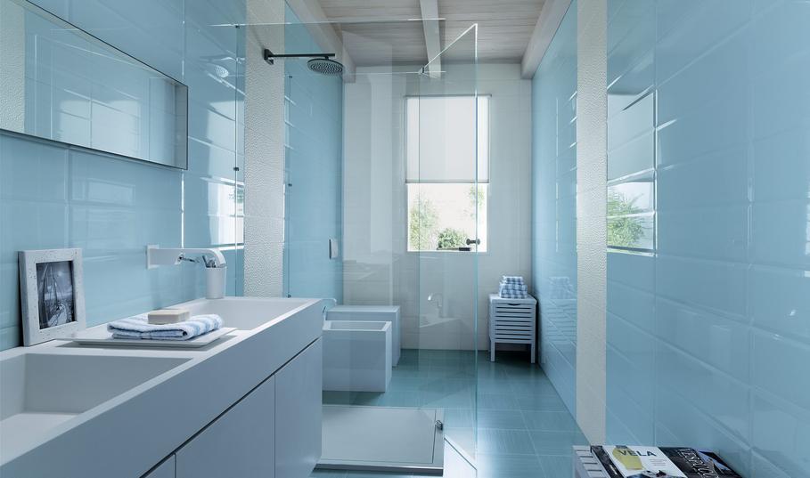 conseil idée déco salle de bain bleu
