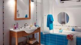 idée déco salle de bain bleu