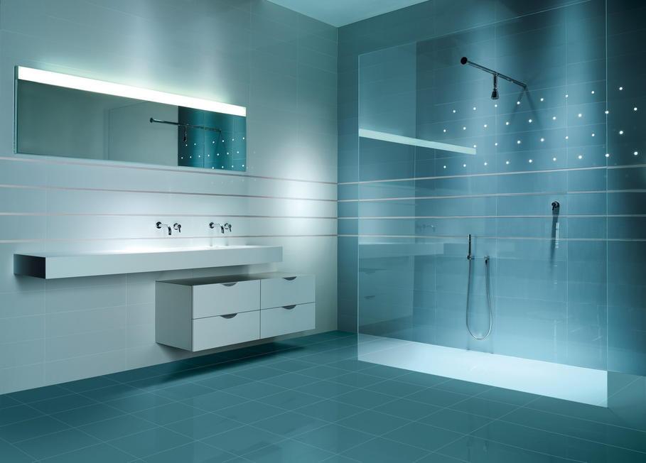 Mod le id e d co salle de bain bleu for Salle de bain 2014