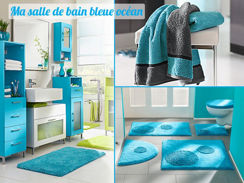 Style id e d co salle de bain bleu - Idee deco de salle de bain ...