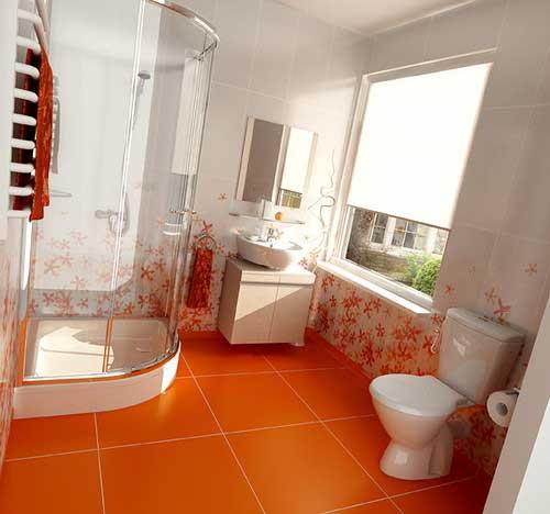 Inspiration id e d co salle de bain orange for Deco salle de bain orange