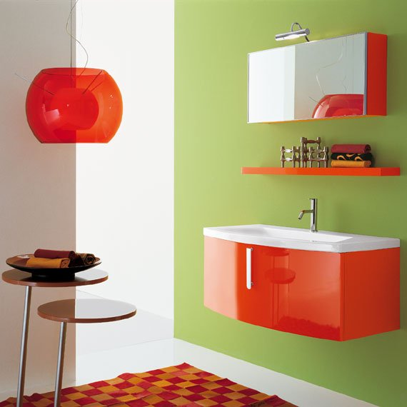 Photo id e d co salle de bain orange for Deco salle de bain idee