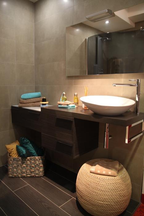 Id e d co salle de bain taupe - Deco salle de bain taupe ...