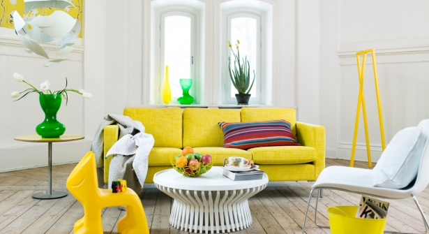 Mod le id e d co salon jaune - Deco salon jaune ...