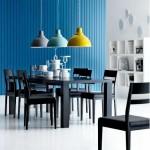 ambiance salle à manger bleu