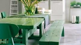 ambiance salle à manger vert