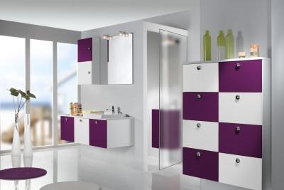 Guide ambiance salle de bain prune for Salle de bain prune