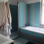 ambiance salle de bain turquoise