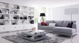 ambiance salon gris et violet