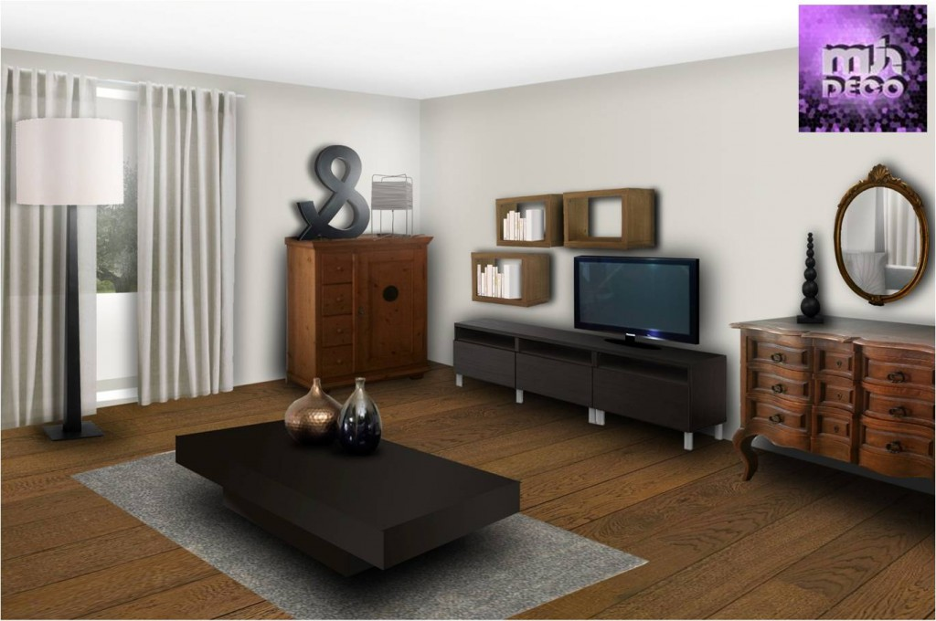 ambiance salon moderne. Black Bedroom Furniture Sets. Home Design Ideas