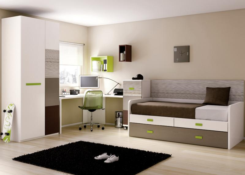 d co chambre gar on marron. Black Bedroom Furniture Sets. Home Design Ideas