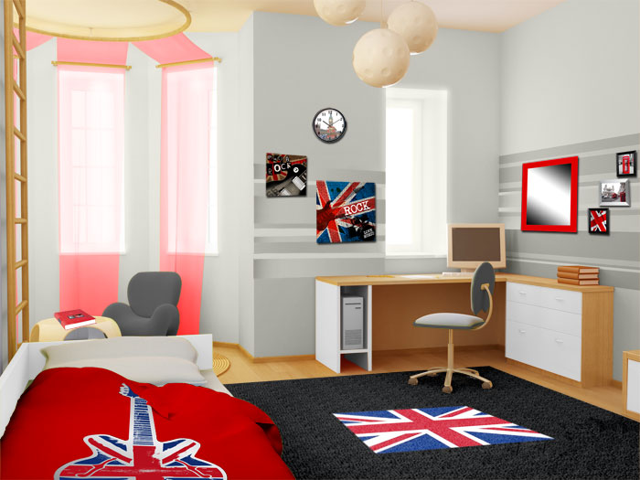 style d co chambre london. Black Bedroom Furniture Sets. Home Design Ideas